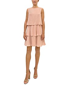 Tiered Popover Shift Dress