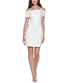 Sweater-Knit Off-The-Shoulder Dress