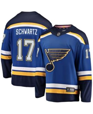 Men's Jaden Schwartz Blue St. Louis Blues Home Premier Breakaway Player Jersey