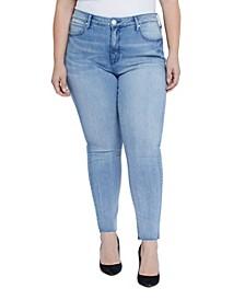 Plus Size High Rise Tummyless Jeans