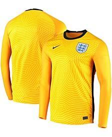 Men's Yellow England National Team 2020 Breathe Stadium Goalkeeper Replica Long Sleeve Jersey