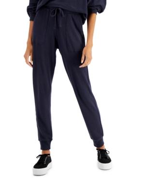 Juniors' Waffle-Knit Jogger Pants
