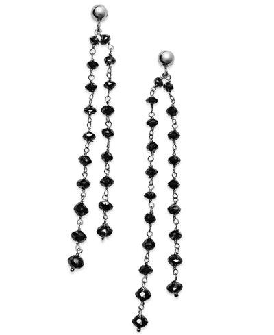 Black Diamond Double Strand Earrings in 14k White Gold (7 ct. t.w.)