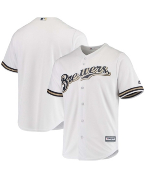 Men's White Milwaukee Brewers Team Official Jersey