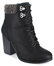 Women's Maddie Studded Hiker Booties