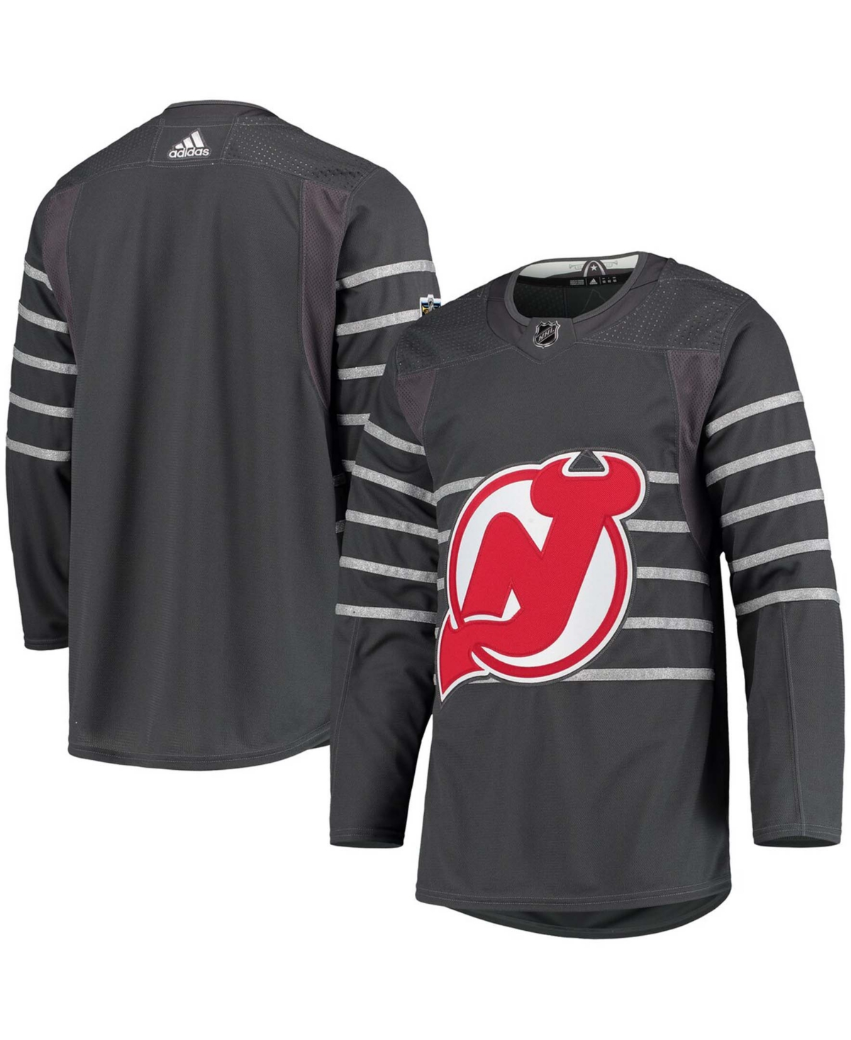 Men's Gray New Jersey Devils All-Star Authentic Jersey