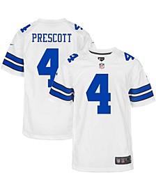 Youth Boys and Girls Dak Prescott White Dallas Cowboys Game Jersey