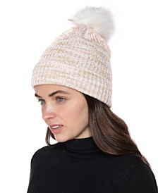 Space-Dye Ribbed Beanie, Created for Macy's