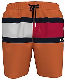 """Men's Tommy Flag 6.5"""" Swim Trunks, Created for Macy's"""