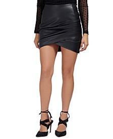 Rosalba Faux-Leather Mini Skirt