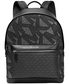 Men's Oversized MK Signature Bi-Scale Intarsia Backpack