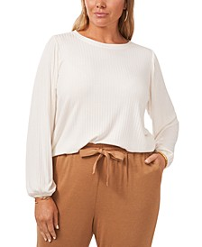 Plus Size Ribbed Top