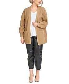 Plus Trendy Faux Leather Pants