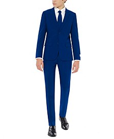 Teen Boys Navy Royale Solid Suit