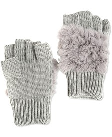 Faux Fur Fingerless Gloves, Created for Macy's