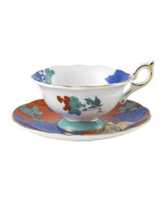Wonderlust Parrot 2 Piece Teacup and Saucer Set