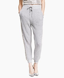Petite Sequin-Trim Jogger Pants, Created for Macy's