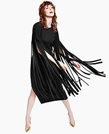 Petite Ponté-Knit Fringed Dress, Created for Macy's