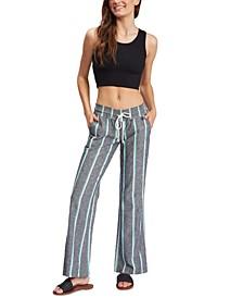 Juniors' Oceanside Striped Pants