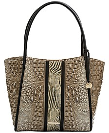 Bailee Embossed Leather Tote