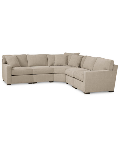 Radley Fabric 5 Piece Sectional Sofa Created For Macy S