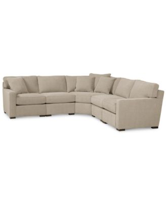 Bon Radley Fabric 5 Piece Sectional Sofa, Created For Macyu0027s