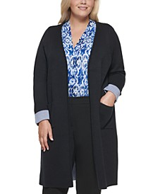 Plus Size Open-Front Duster Cardigan