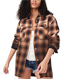 Anneli Cotton Plaid Shirt Jacket