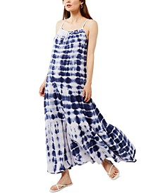 Tie-Dyed Maxi Maternity Dress