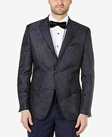 Men's Slim-Fit Jacquard Blazer