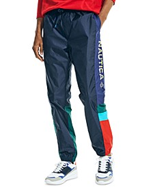 Men's Classic-Fit Water-Resistant Colorblocked Track Pants