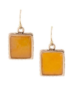 Women's Sunny Faux Bronze and Yellow Quartz Drop Earrings
