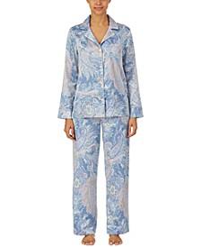 Paisley-Print Pajama Set