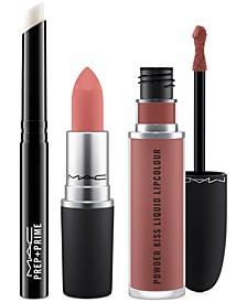 3-Pc. Prep + Powder Kiss Lip Set - Neutral, Created for Macy's