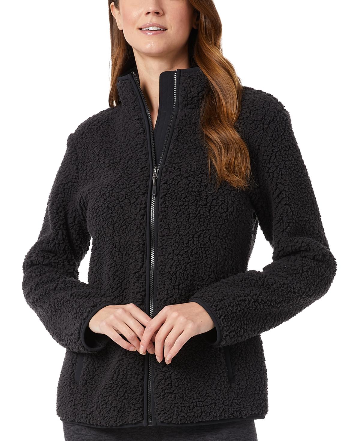 32 Degrees Sherpa Mock-Neck Sweatshirt
