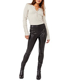 Spitfire Faux-Leather Skinny Pants