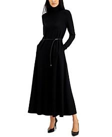 Serenity Knit Turtleneck Midi Dress