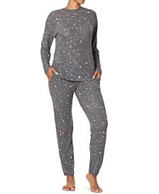 Star Gazer Crewneck Top & Jogger Pants Pajama Set