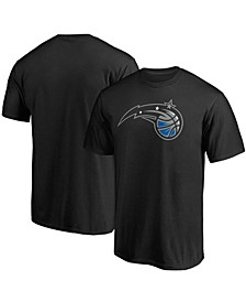 Men's Black Orlando Magic Primary Team Logo T-shirt