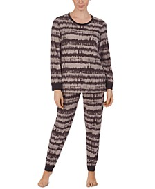 Printed Top & Jogger Pants Pajama Set