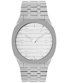 Women's Swiss 25H Stainless Steel Bracelet Watch 38mm