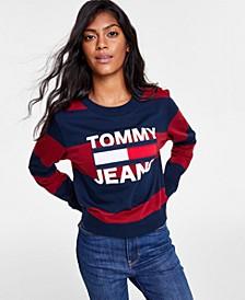 Striped Logo Graphic Sweatshirt
