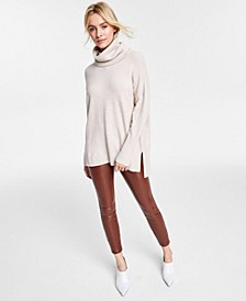 Step-Hem Cowl-Neck Sweater