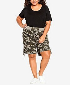 Plus Size Cotton Casual Shorts