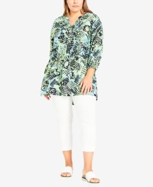 Plus Size Vera Pintuck Tunic Top
