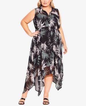 Sara Print Shirt Dress