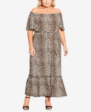 Plus Size Latifa Print Dress