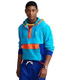 Men's Color-Blocked Double-Knit Hoodie