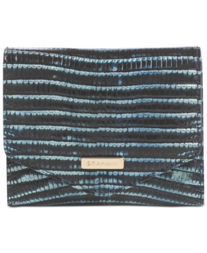 Small Veronica Embossed Leather Wallet