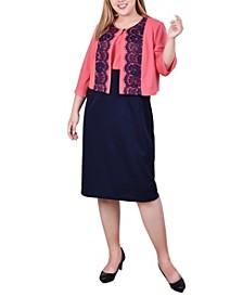 Plus Size 2 Piece Jacket and Dress Set